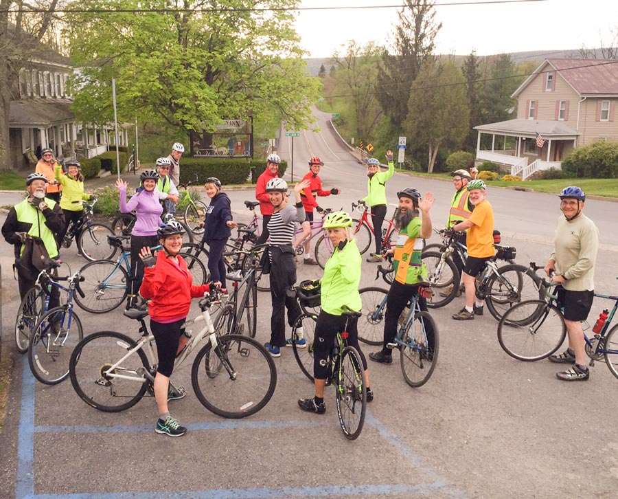Penns Valley Pedals and Pints riders in Woodward