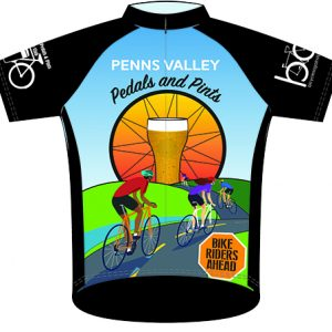 Front of Pedals and Pints Jersey